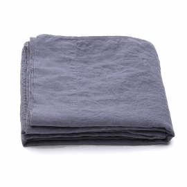 Blueberry Stone Washed Bed Linen Flat Sheet