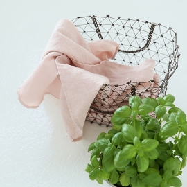 Set of 2 Stone Washed Linen Tea Towels Rosa