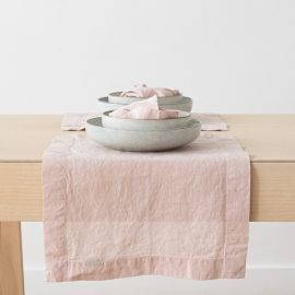 Rosa Linen Placemat Stone Washed