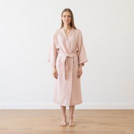 Rosa Linen Bath Robe Washed Waffle