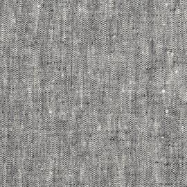 Linen Fabric Sample Washed Francesca Black