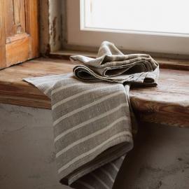 Set of 2 Tea Towels Natural Linen Linum