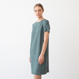 Folkestone Grey Linen Dress Isabella