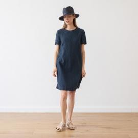 Linen Dress Indigo Isabella