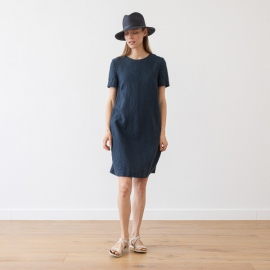 Linen Dress Indigo Isabella