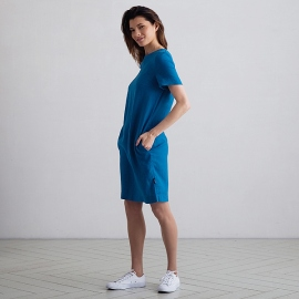 Sea Blue Linen Dress Isabella
