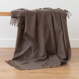 Brown Baby Alpaca Throw Bella Square