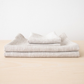 Birch Linen Bath Towels Set Francesca