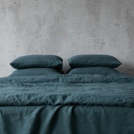 Balsam Green Stone Washed Bed Linen Pillow Case