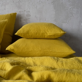 Citrine Stone Washed Bed Linen Pillow Case