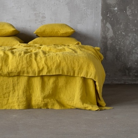 Citrine Stone Washed Bed Linen Flat Sheet