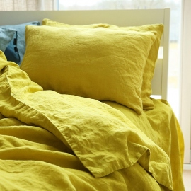 Citrine Stone Washed Bed Linen Duvet