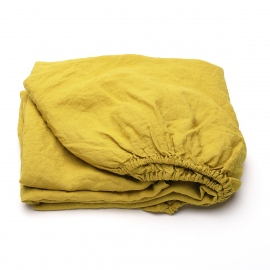 Citrine Linen Bed Set Stone Washed