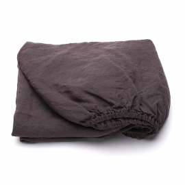 Rabbit Linen Fitted Sheet Stone washed