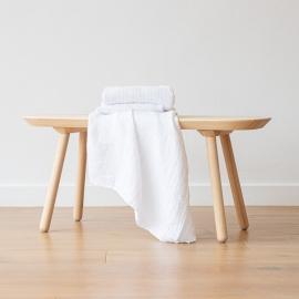 Linen Waffle Big Bath Towel White