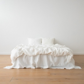 Off White Linen Bed Set Stone Washed