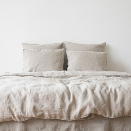 Stone Washed Bedlinen Set Natural