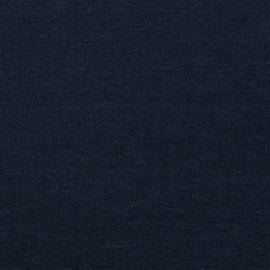 Navy Linen Fabric Sample Stone Washed