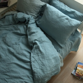 Stone Blue Stone Washed Bed Linen Pillow Case