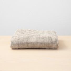 Linen Waffle Big Bath Towel Natural