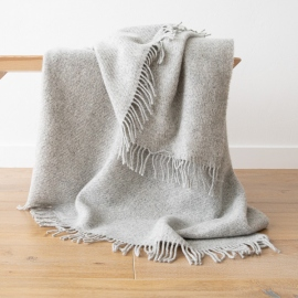 Silver Pure New Wool Throw Paula