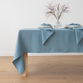 Stone Blue Linen Tablecloth Lara Stone Blue Linen Tablecloth Lara
