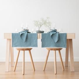 Stone Blue Linen Napkin Lara