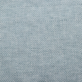 Stone Blue Linen Fabric Sample Stone Washed Rhomb
