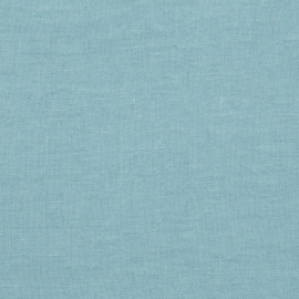 Stone Blue Linen Fabric Sample Stone Washed