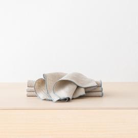 Napkin Off White Mint Linen Venezia