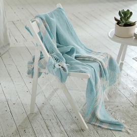 Sky Blue Linen Throw Felix