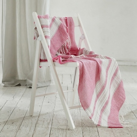 Bright Pink Linen Throw Felix