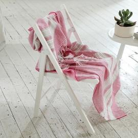 Bright Pink Linen Throw Felix