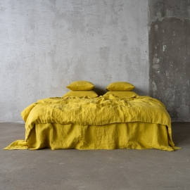 Stone Washed Bedlinen Set Citrine