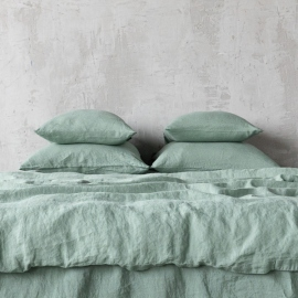 Spa Green Stone Washed Bed Linen Pillow