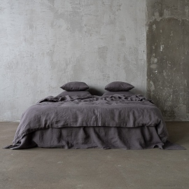 Steel Grey Stone washed  Bed Linen Duvet