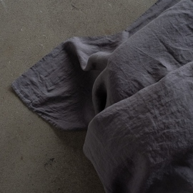 Steel Grey Stone Washed Bed Linen Flat Sheet