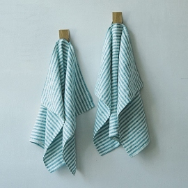 Fabric Sample Marine Blue Linen Brittany