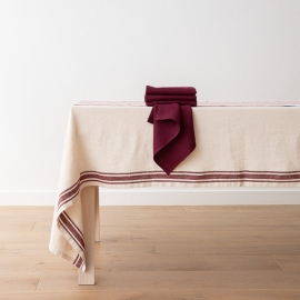 Lara Napkin Cherry Linen Washed