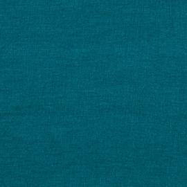 Marine Blue Linen Fabric Sample Stone Washed