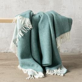 Spa Green Wool Throw Roberto