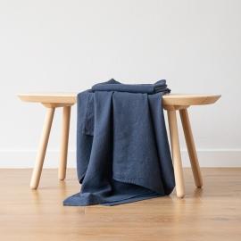 indigo Linen Waffle Bath Towel Washed