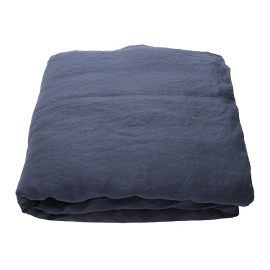 Indigo Washed Bed Linen Pillow Case Pinstripe