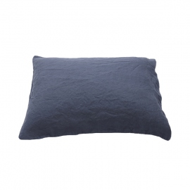 Indigo Linen Pillow Case Stone Washed