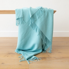 Aqua Baby Alpaca Throw Bella