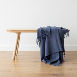 Indigo Baby Alpaca Throw Bella