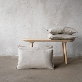 Linen Cushion Cover Natural  Stone Washed