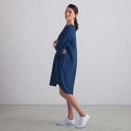 Linen Dress Indigo Luisa