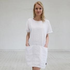 White Linen Dress Felisa