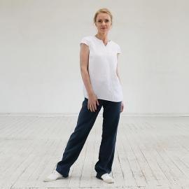 White Linen Blouse  Emily